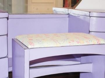 Girl's Purple Distressed Vanity