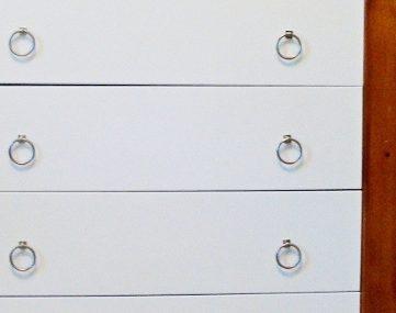 Wood and White Modern Dresser