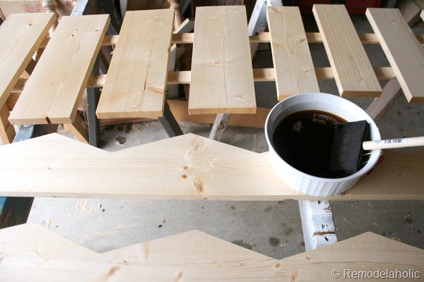 13 Homemade Stain For Rustic Wood Wall Bins Diy Tutorial Remodelaholic