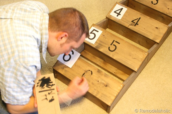 28 Painted Wood Numbers On Rustic Wood Wall Storage Bins For Farmhouse Entryway Remodelaholic