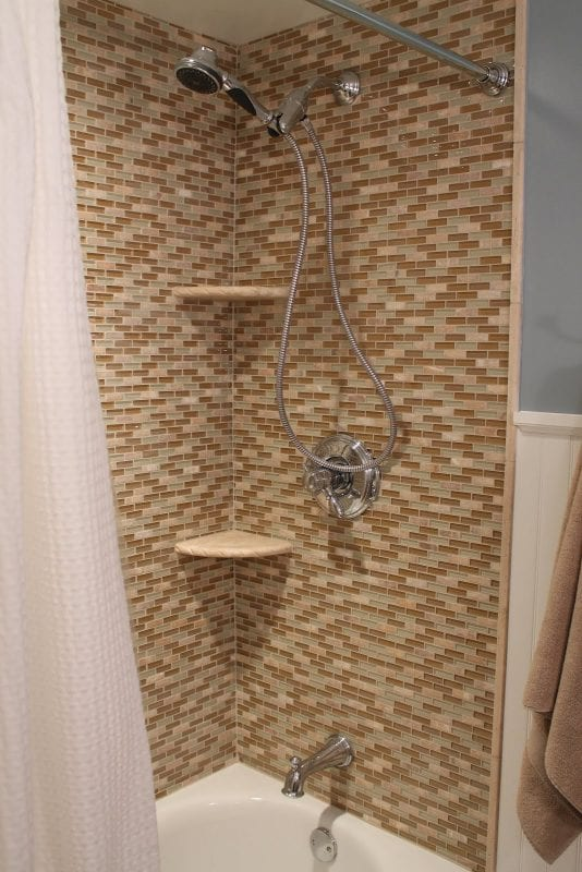 30 Shower makeover turns out beautifully!, by Elizabeth and Co featured on @Remodelaholic