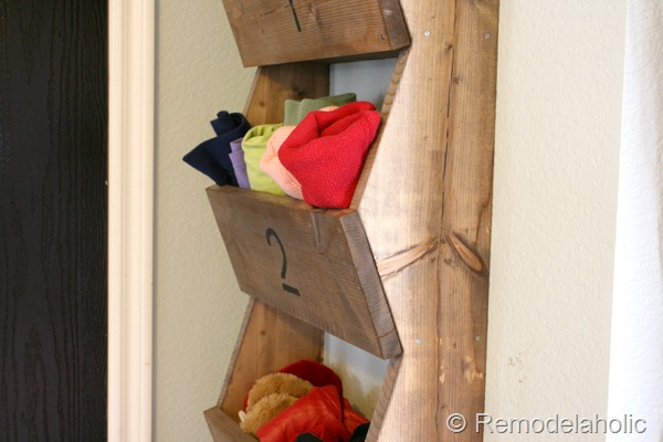 DIY Wood Wall Storage Bins For Entryway, Farmhouse Organization, Remodelaholic