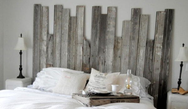 DIY Rustic Headboard in Master Bedroom