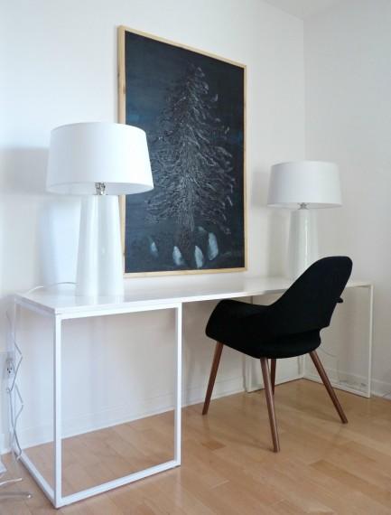 Dans le Townhouse_DIY Desk Complete_Good Lighting