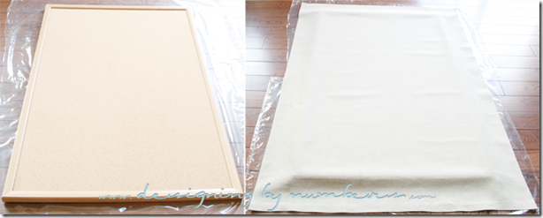 Drape the fabric over the board
