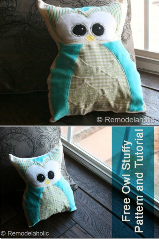 Free Owl Stuffy Pattern And Tutorial Featured On Remodelaholic.com