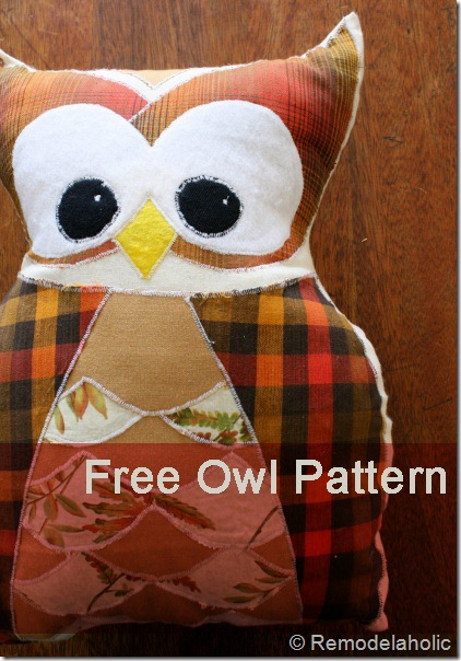 Remodelaholic Owl Pillow Pattern At Last