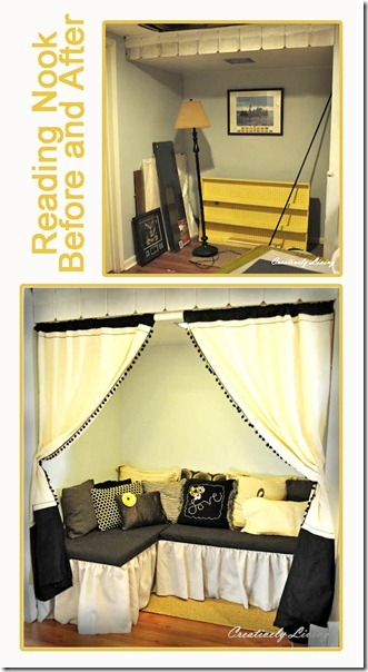 Reading Nook before and after