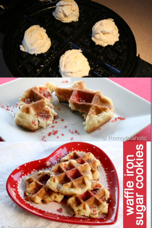 Waffle Iron Sugar Cookies Recipes At Remodelaholic.com