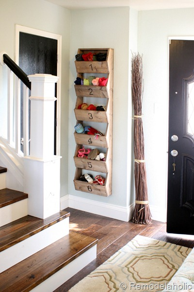 Diy Farmhouse Wall Storage Bins For Entryway Organizing, Remodelaholic