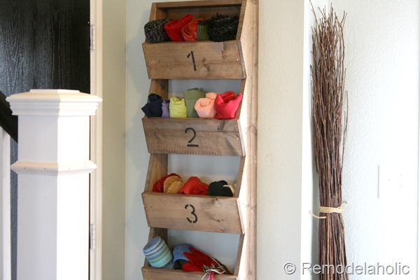 Farmhouse Wall Storage Bins, DIY Tutorial By Remodelaholic