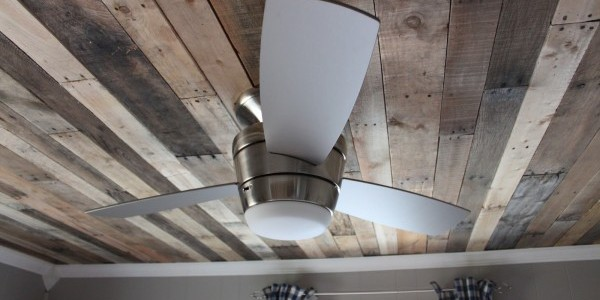 Rustic Pallet Wood Ceiling Tutorial
