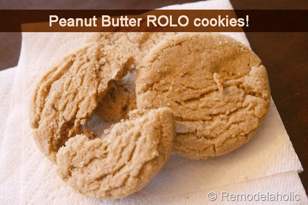 Remodelaholic   Peanut Butter Rolo Cookies Recipe