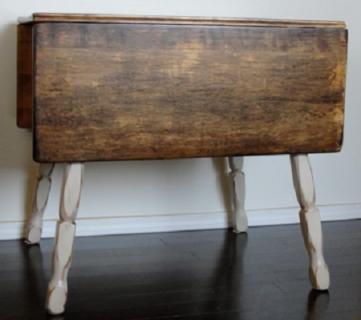 Refinished Drop-Leaf Table