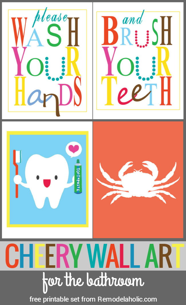 Remodelaholic Bright And Cheery Bathroom Art. Printable ...