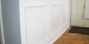 Hiding plumbing access with wainscoting-5
