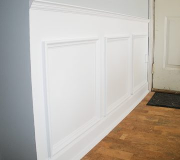 Hiding Plumbing Access With Wainscoting