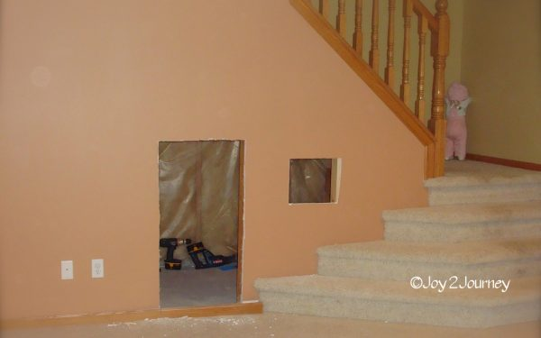 Under the stairs kids play house  (2)