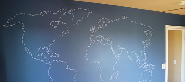 Remodelaholic world map outline mural gumiabroncs Image collections