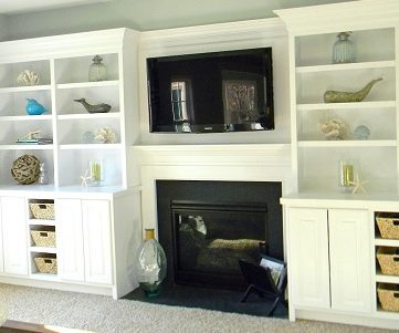 Beach Coastal Family Room Makeover