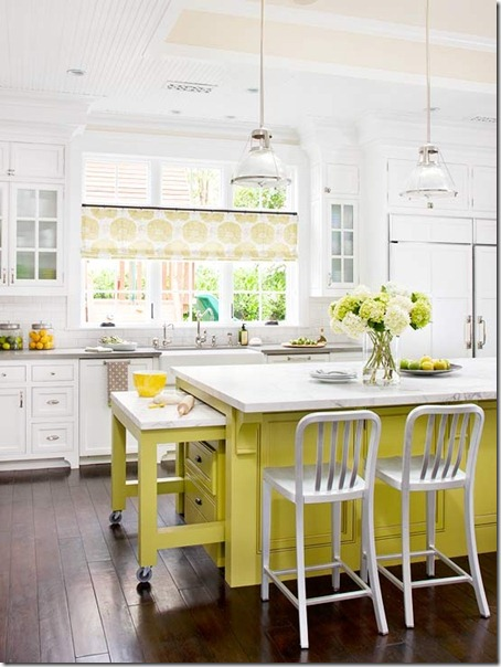 beautiful-yellow-kitchen-island-from-BHG