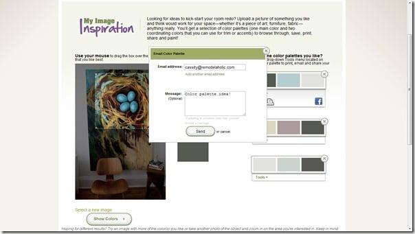 color palette email copy