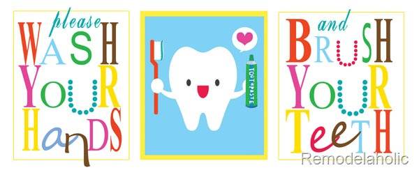 Brush Your Teeth Quotes: Bathroom Art Free Tooth Printable