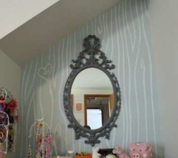 Faux Bois Hand Painted Wall