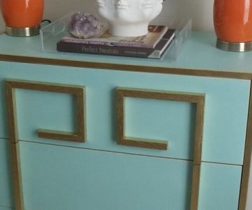 DIY Greek Key Dresser