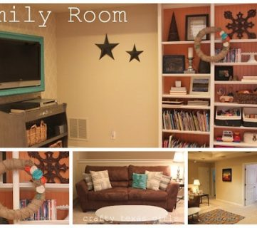 Play Room Updated To A Colorful Family Room