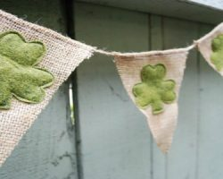 shamrock pennant banner from Sweet Sara Lyn