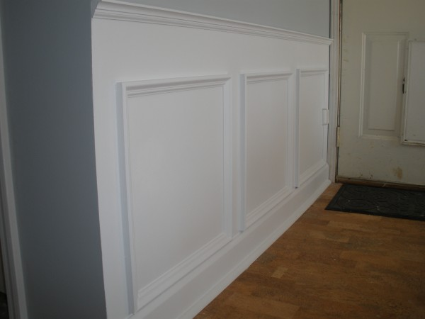 wainscotting-to hide plumbing access
