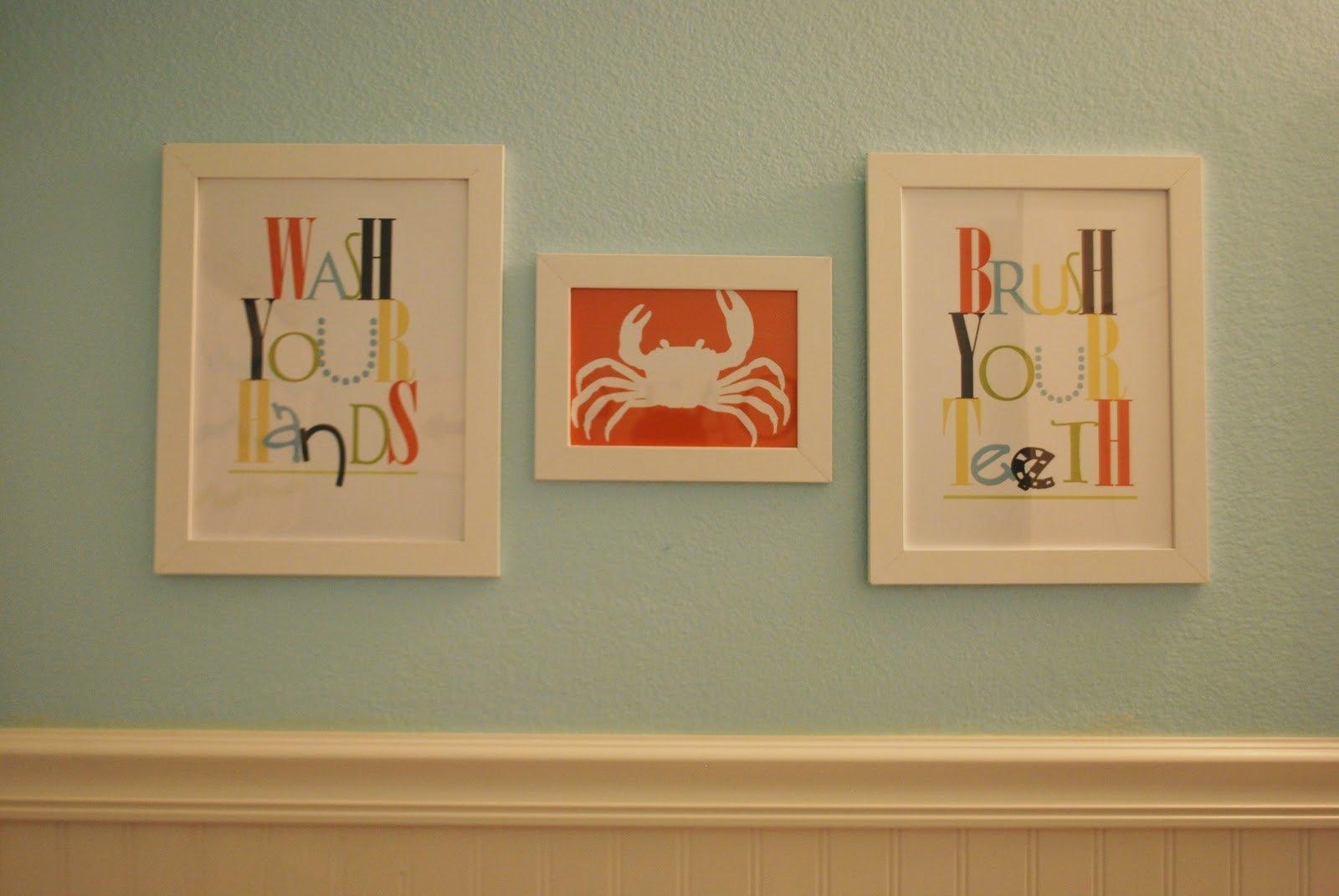 Bathroom wall art printables - Wash Your Hands Brush Your Teeth Printable Signs