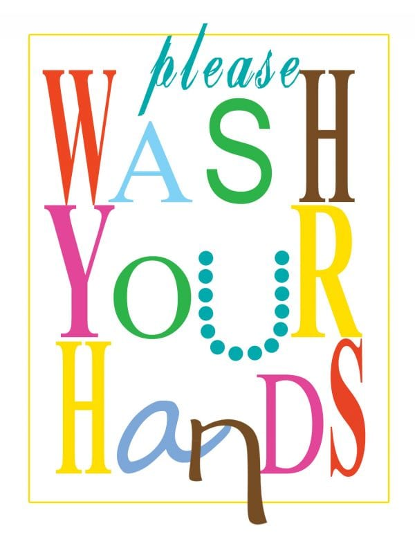 It is a picture of Canny Free Wash Your Hands Signs Printable