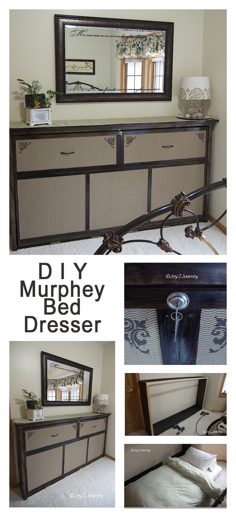DIY Murphey Bed Faux Dresser