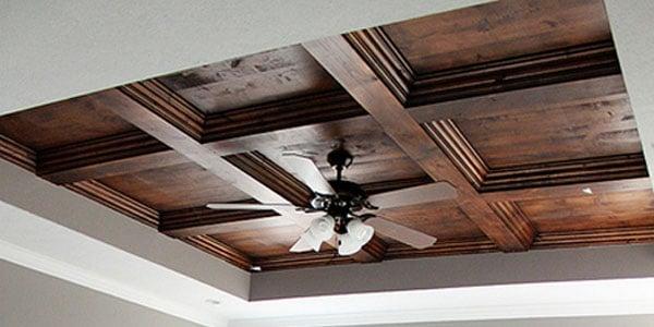Remodelaholic DIY Master Bedroom Wood Coffered Ceiling