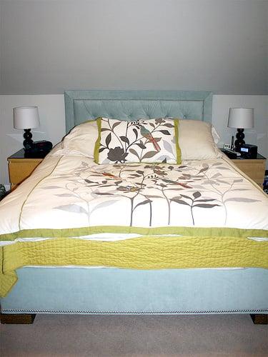 tall upholstered bed frame HqSAu8ve