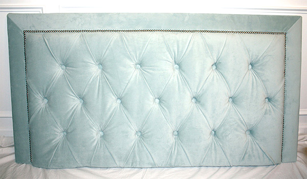 DIY upholstered headboard and bed frame