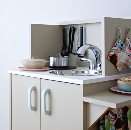 Play Kitchen From Microwave Stand (23)