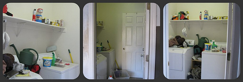 Small Laundry Room Makeover, Before And After, By Design Build Love Featured On Remodelaholic