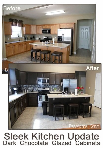 Redo Dark Kitchen Cabinets