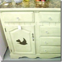 birds rose buffet-dresser