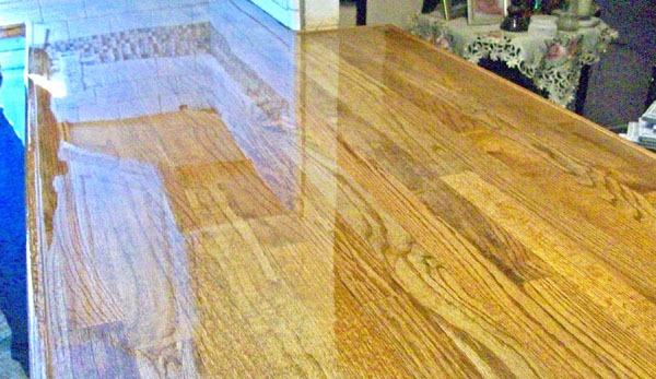 butcher block countertops created with hardwood flooring 3 - Remodelaholic Easy Butcher Block Countertop Tutorial