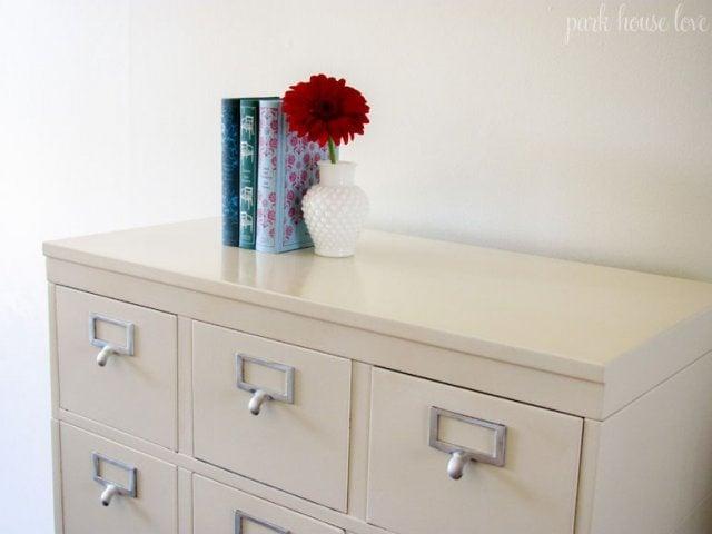Remodelaholic | Refinished Stackable Filing Cabinet