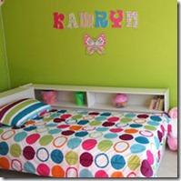 girls bright bedroom