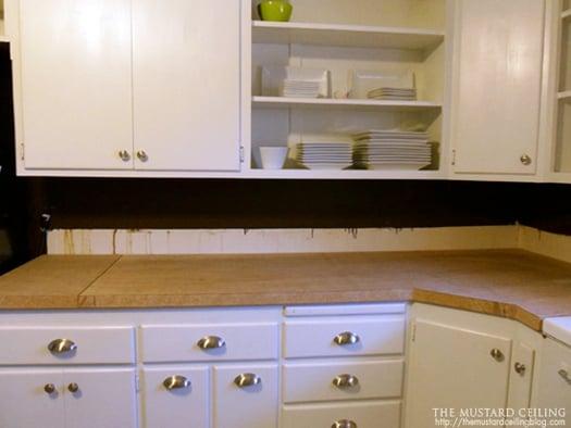 Solid Wood Countertops : Remodelaholic wooden countertops tutorial
