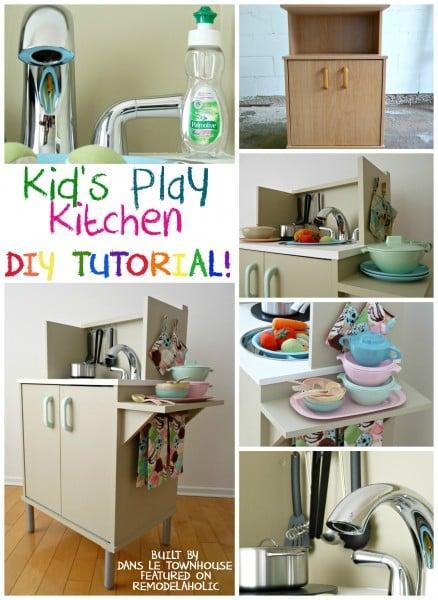 kids play kitchen DIY building tutorial