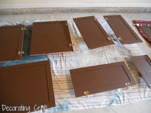 Brown Painted Kitchen Cabinets remodelaholic | sleek dark chocolate painted cabinets!