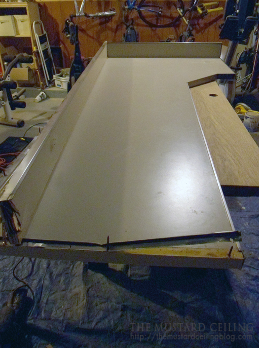 use old countertop as a template for the new wood countertop, The Mustard Ceiling on @Remodelaholic