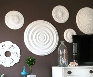 Ceiling Medallion Wall Art For Bedroom Makeover